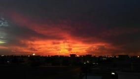 Взгляд Солнця установленный Стоковое Изображение RF