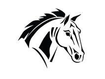 Взгляд со стороны головы лошади восковки Стоковые Изображения