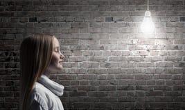 Взгляд со стороны девушки Стоковые Фотографии RF