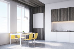 Взгляд со стороны интерьера кухни бесплатная иллюстрация