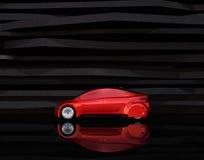 Взгляд со стороны красного автономного автомобиля иллюстрация штока