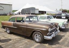 Взгляд со стороны 1955 меди Chevy Bel Air Стоковая Фотография