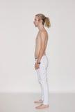 Взгляд со стороны поляроида снимка модели молодого человека Стоковая Фотография RF