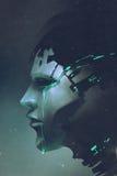 Взгляд со стороны плакать робота иллюстрация штока