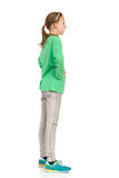 Взгляд со стороны ребенка стоящий Стоковые Изображения RF