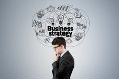Взгляд со стороны человека и стратегии бизнеса Стоковое Фото