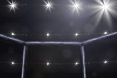Взгляд со стороны этапа Muttahida Majlis-E-Amal воюя под светами Стоковые Изображения RF