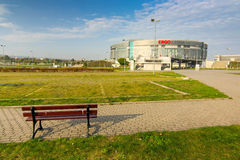 Взгляд со стороны Ergo залы арены Стоковые Фотографии RF