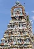 Взгляд со стороны Gopuram на виске Mahalingeswarar, Dhaksinamurthy Стоковая Фотография