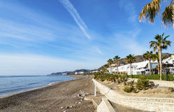 Взгляд Средиземного моря на Mojacar Playa Стоковое Изображение