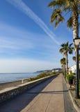Взгляд Средиземного моря на Mojacar Playa Стоковое фото RF