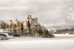 Взгляд средневекового замка в Niedzica, Польше Стоковое фото RF