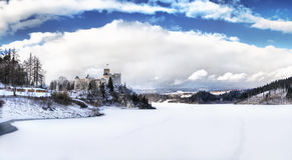 Взгляд средневекового замка в Niedzica, Польше Стоковые Изображения