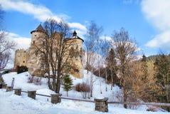 Взгляд средневекового замка в Niedzica, Польше Стоковые Изображения RF