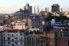 Взгляд Стамбула от башни Galata Стоковые Изображения