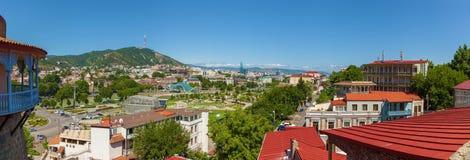 Взгляд старого города Тбилиси стоковые фото