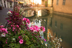 Взгляд старого городка Анси Франция Стоковые Фотографии RF