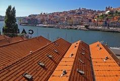 Взгляд старого городка в Порту Стоковое Изображение RF