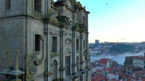 Взгляд старого городка Порту, Португалии видеоматериал
