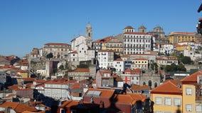 Взгляд старого городка, Порту, Португалии Стоковая Фотография RF