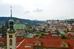 Взгляд старого городка prague Стоковые Изображения RF