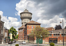 Взгляд старой водонапорной башни в Валансьен Стоковые Фотографии RF