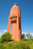 Взгляд старой водонапорной башни в городе Hanko, Финляндии Стоковое Изображение RF