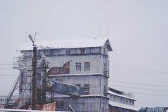 Взгляд старой фабрики пурга Стоковое фото RF