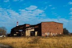 Взгляд старых ангаров воздушных судн в России, Baltysk Стоковая Фотография RF