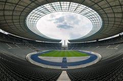 Взгляд стадиона Олимпии пустого Берлина, Берлина Стоковая Фотография RF