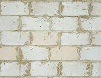 Взгляд стены от больших белых бетонных плит Стоковая Фотография RF
