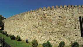 Взгляд стены Mtskheta Georgia старой каменной видеоматериал