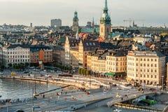 Взгляд Стокгольма от Katarinahissen Стоковые Изображения RF