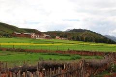 Взгляд страны на Тибете Стоковая Фотография RF