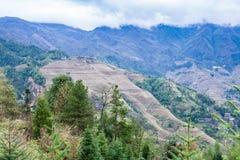 взгляд страны Dazhai от звезд точки зрения 7 Стоковая Фотография RF