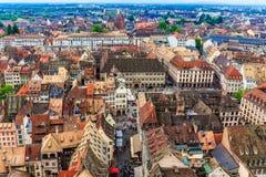 взгляд страсбурга города канала Стоковое фото RF