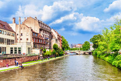взгляд страсбурга города канала Стоковое Фото