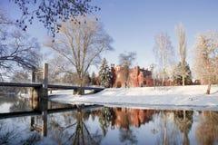 Взгляд строба Kholmskie крепости Бреста от противоположного банка реки Mukhavets, Бреста, Беларуси Стоковые Изображения