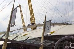 Взгляд структуры арены O2ий стоковые фото