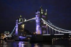 Взгляд сумрака моста башни Стоковые Изображения RF