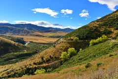 Взгляд сценарной долины осадка в Новой Зеландии Стоковое Изображение RF