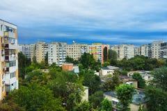 Взгляд с блоками квартир Стоковое Изображение