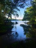 Взгляд следа пруда Стоковые Изображения RF