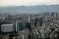 Взгляд Тайбэя от горы #4 слона Стоковая Фотография
