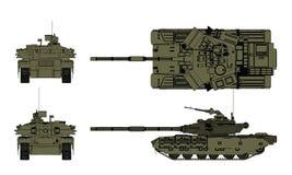 Взгляд танка 4 стоковое изображение