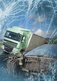 Взгляд тележки и автомобиля в аварии Стоковые Фото