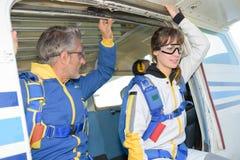 Взгляд точки выхода Skydiving Стоковые Изображения