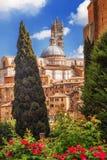 Взгляд традиционной архитектуры в городе Сиены, Тосканы Стоковое Фото