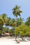 Maldivian остров Kuda Bandos Стоковые Изображения RF