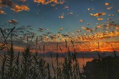Взгляд ТУРЦИЯ Лондон Нью-Йорк Лос-Анджелес ландшафта Антальи солнечности захода солнца Стоковое Фото